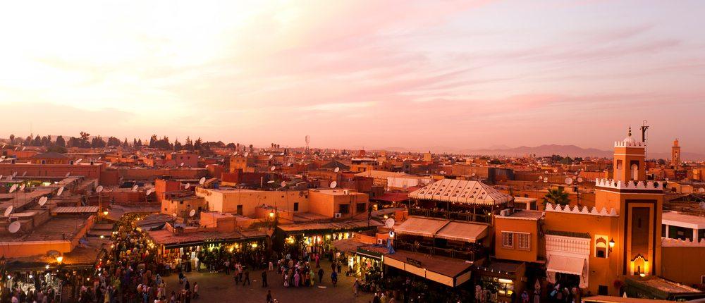 Marocká města jsou vždy plná tržnic