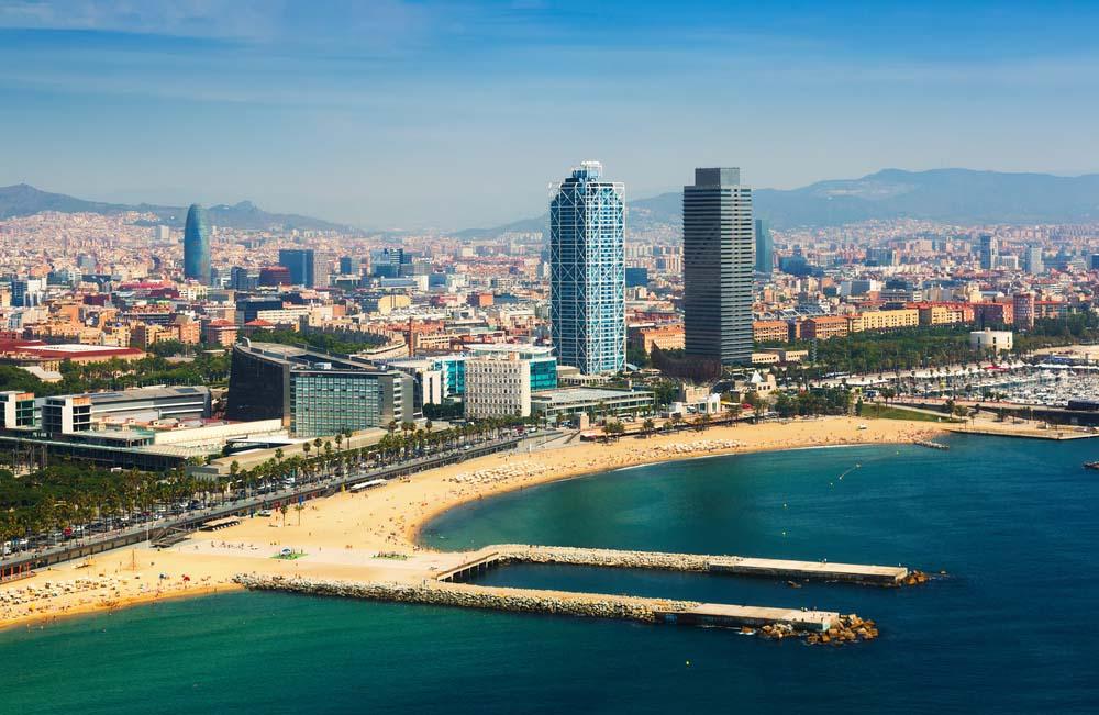 Městské pláže přímo v Barceloně