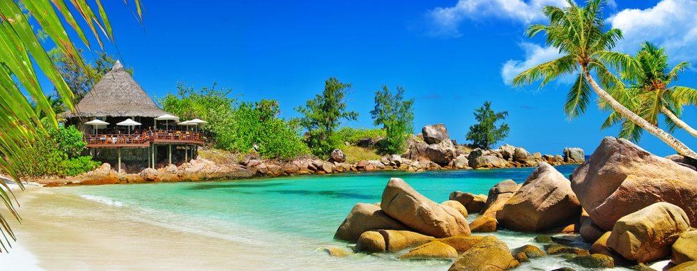 Pláž na Seychelách