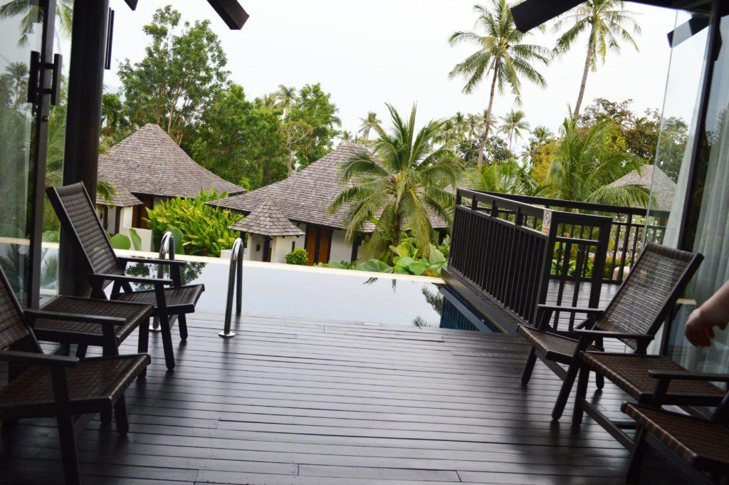 Bazén v terase