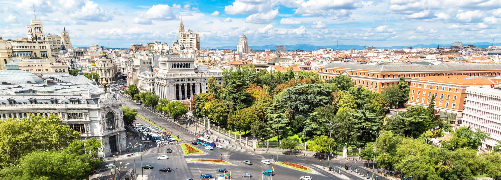 Výhled na město Madrid