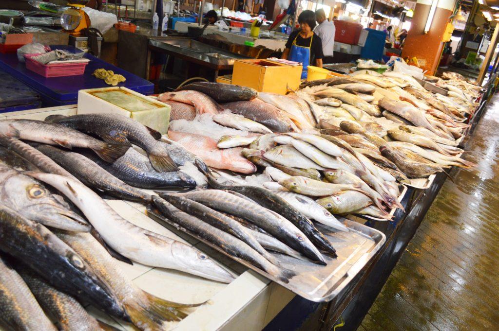 Rybí trh v Thajsku