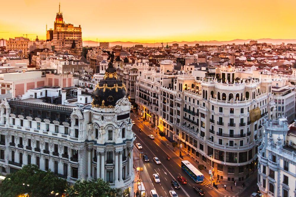 Západ slunce v Madridu