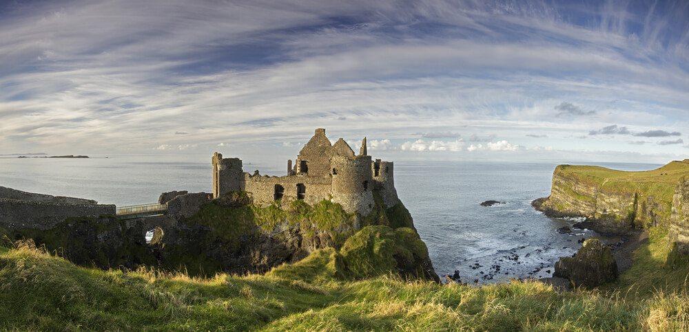 Panoramatická fotka Dunluce Castle