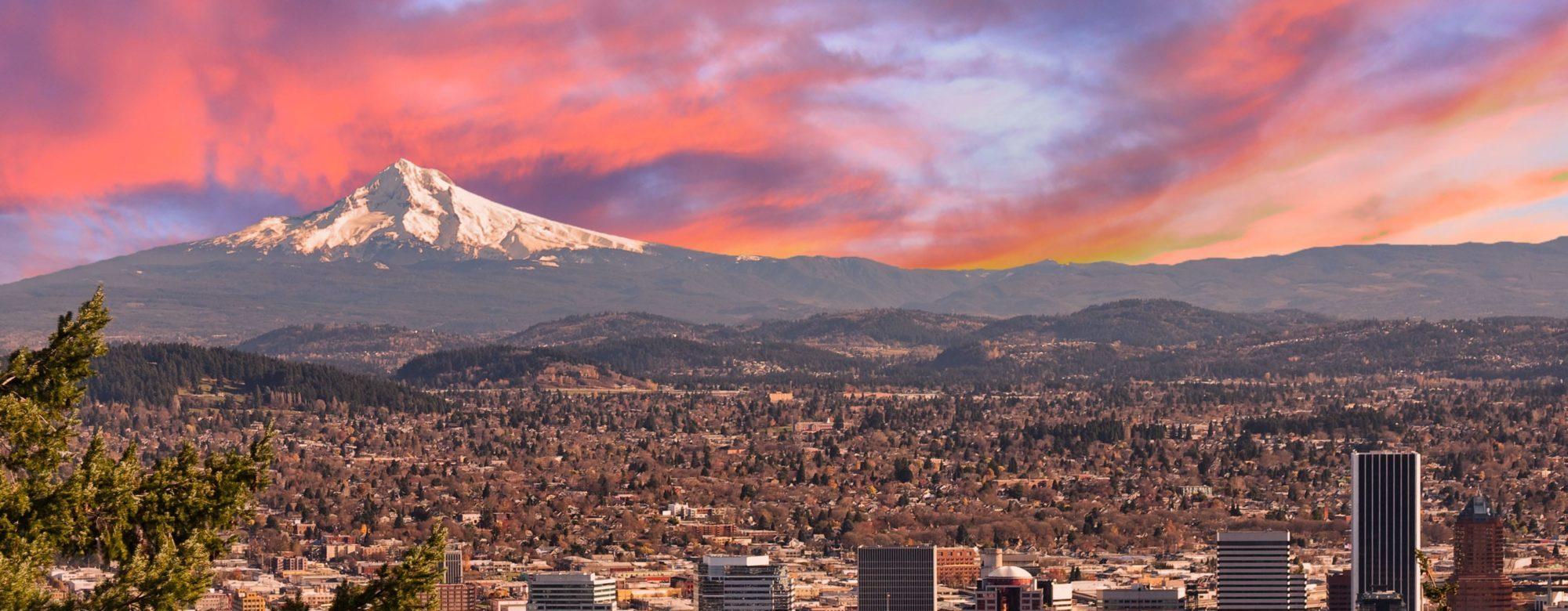 Panorama města Portland