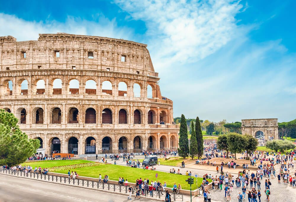 Koloseum v Římě.
