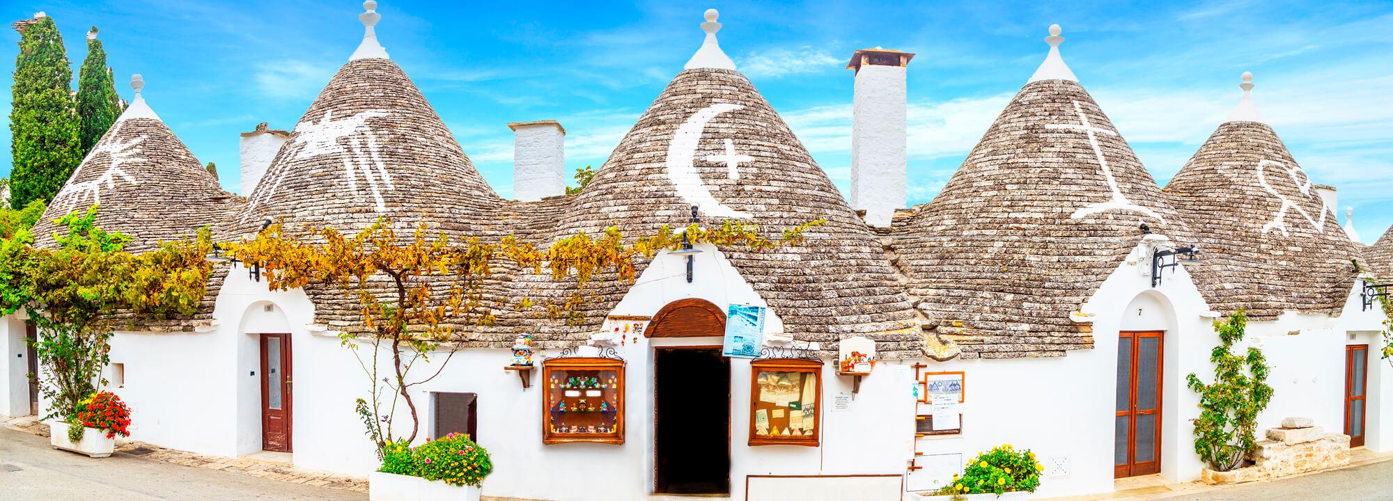 Alberobello vesnice.