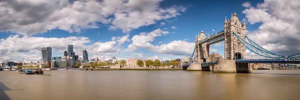 Temže tekoucí Londýnem