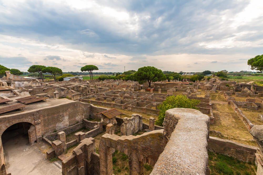 Ruiny Ostia Antica.