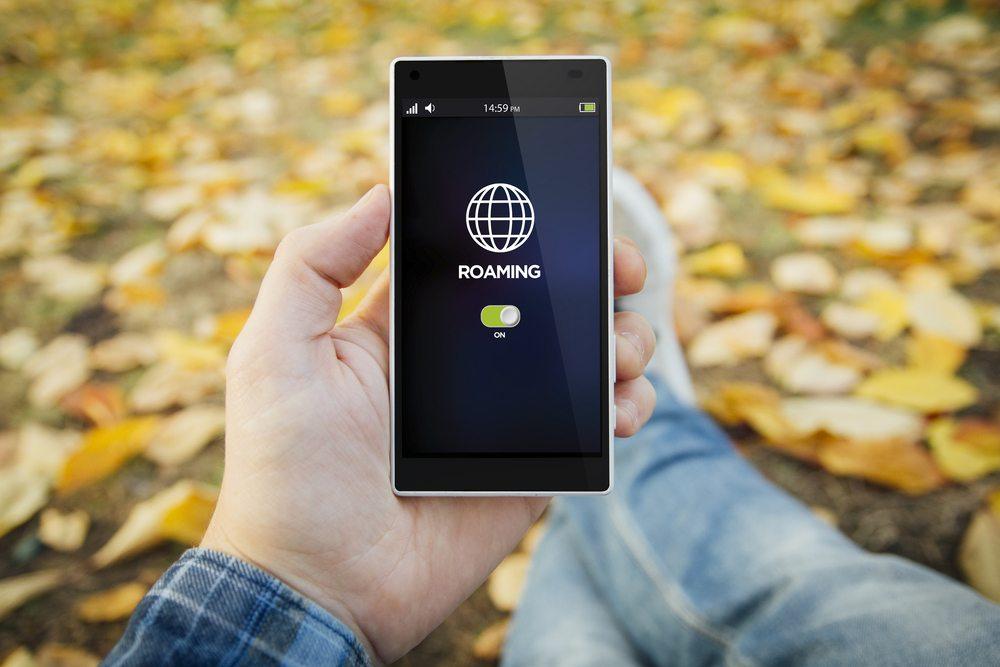 Zapnutý roaming na tlefonu