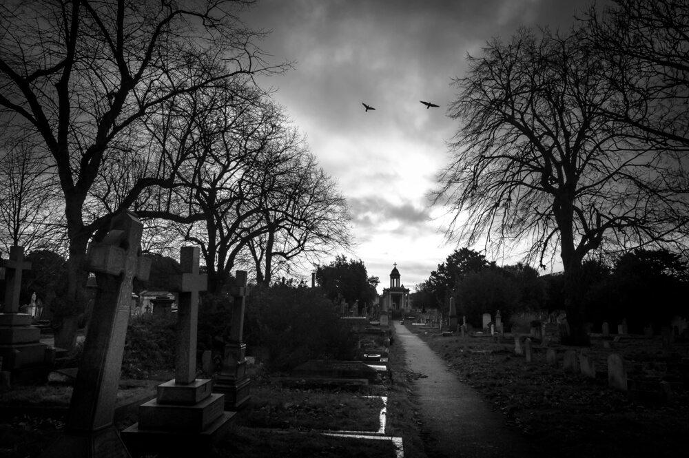 Hřbitov v Londýně.