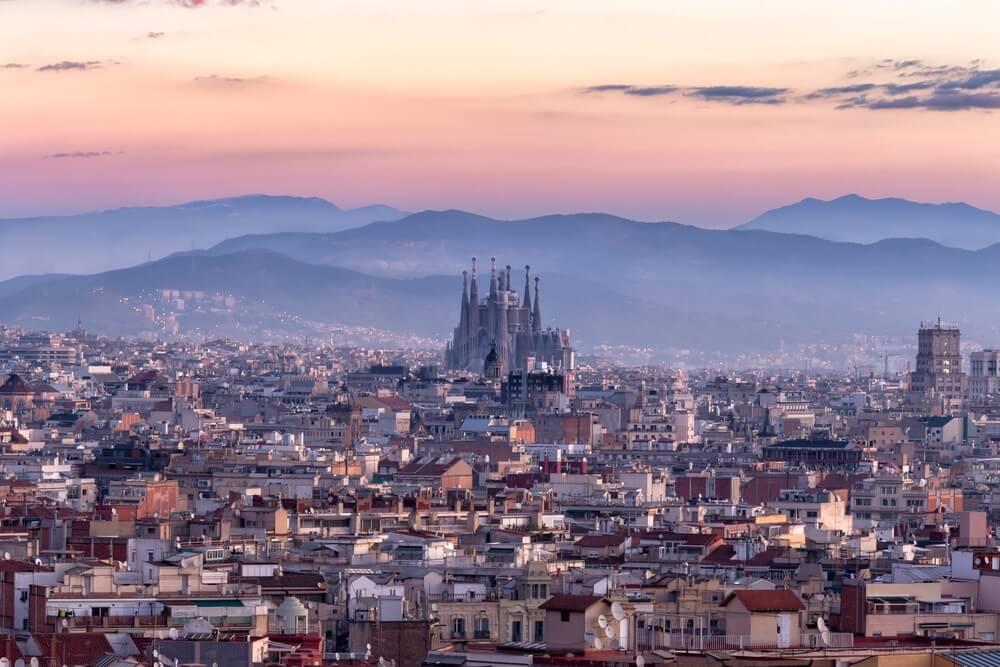 Panorama města Barcelony