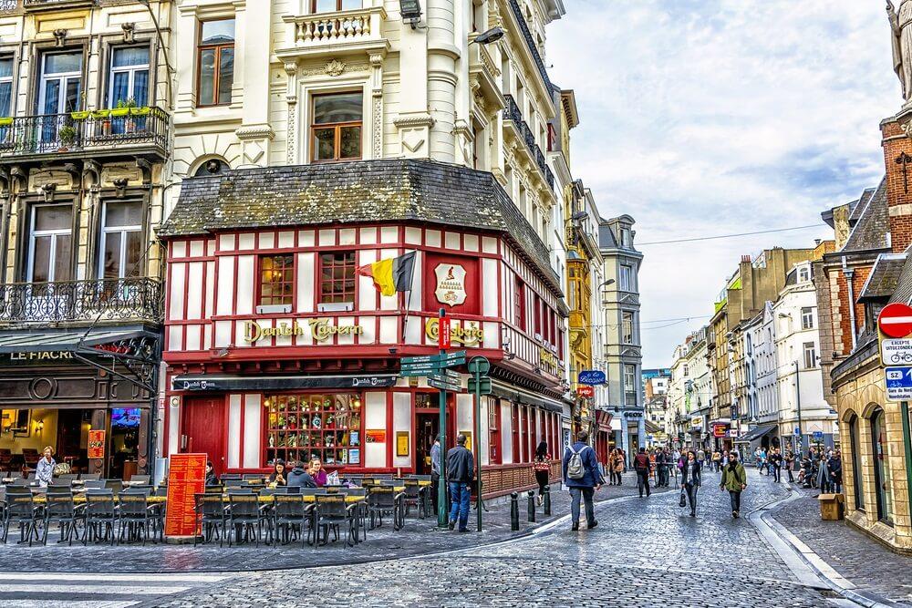 Historická ulice Bruselu