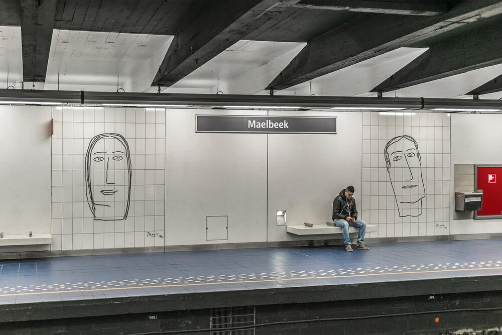 Zastávka metra v Bruselu