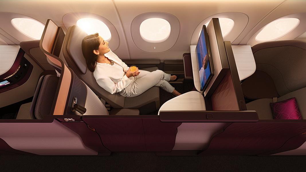 Interiér společnosti Qatar Airways