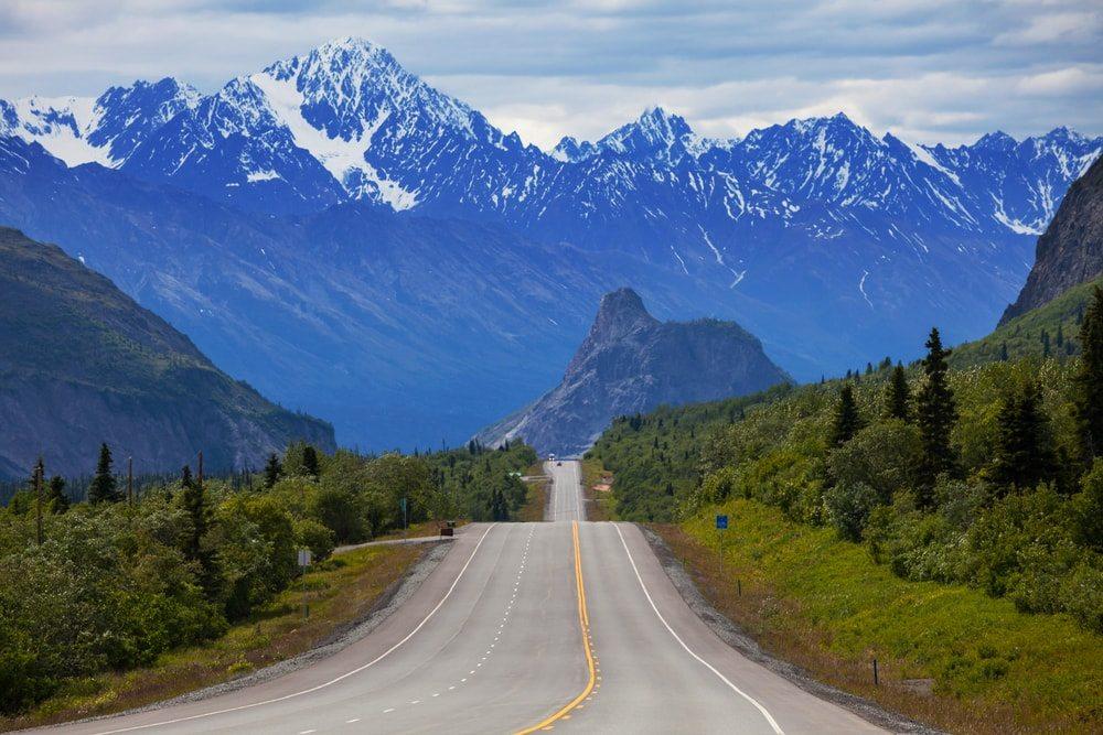 Hornatá cesta na Aljašku
