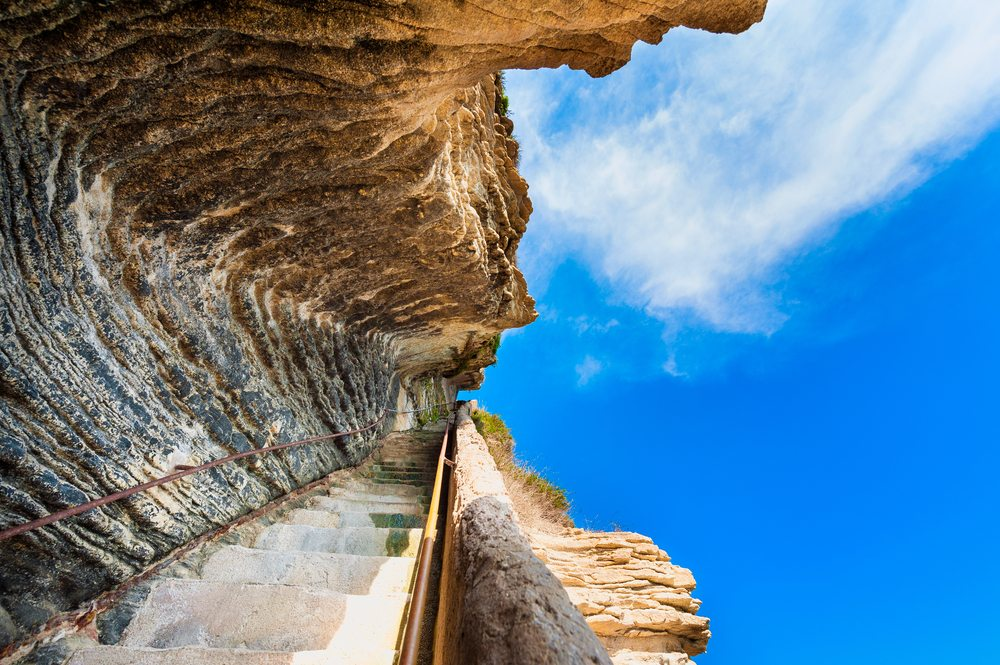 Skalní schody v Bonofacio