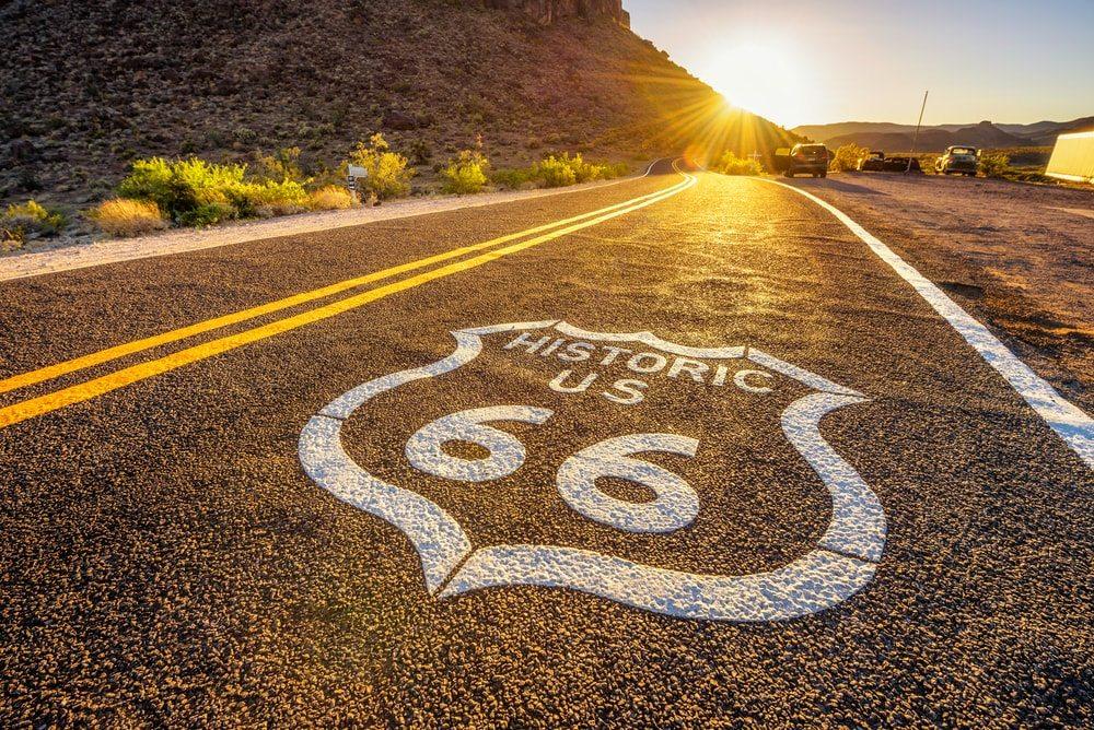 Historic US 66 route
