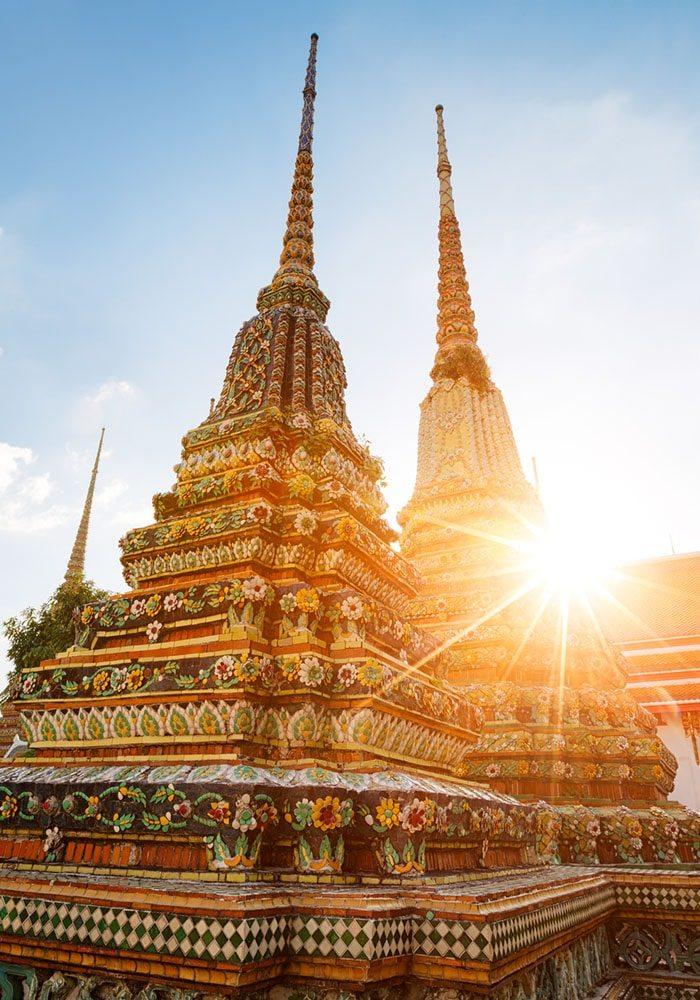 Chrámová budova v Bangkoku