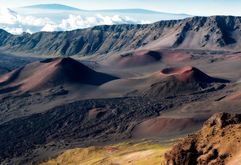 Měsíční krajina na Hawaji