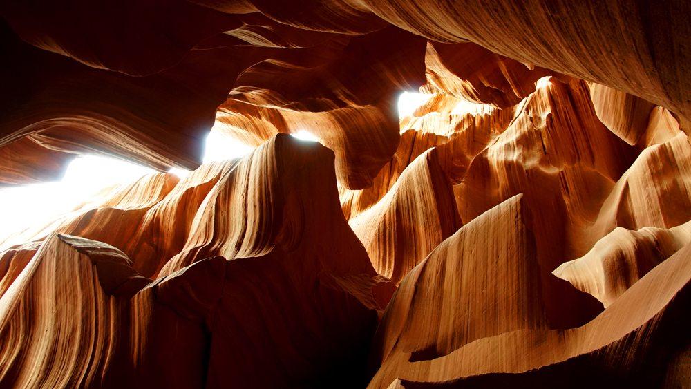 Skály Antelope Canyonu.