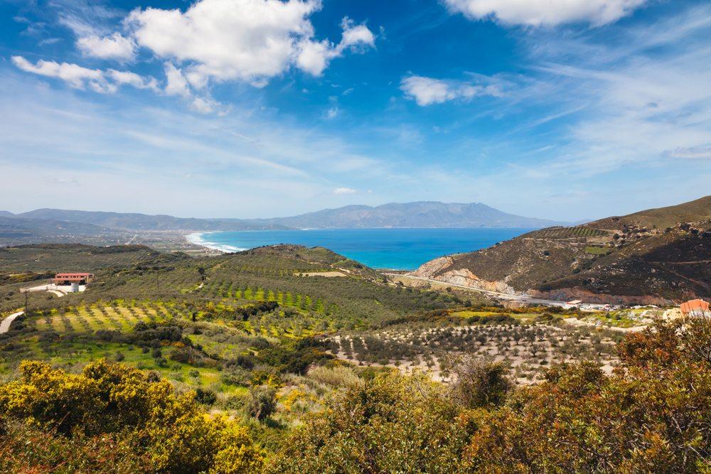 Ostrov Kréta na podzim.