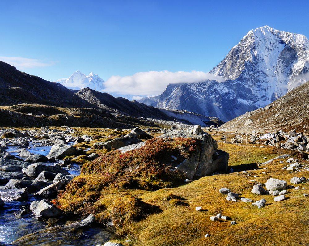 Podzimní příroda v Nepálu.