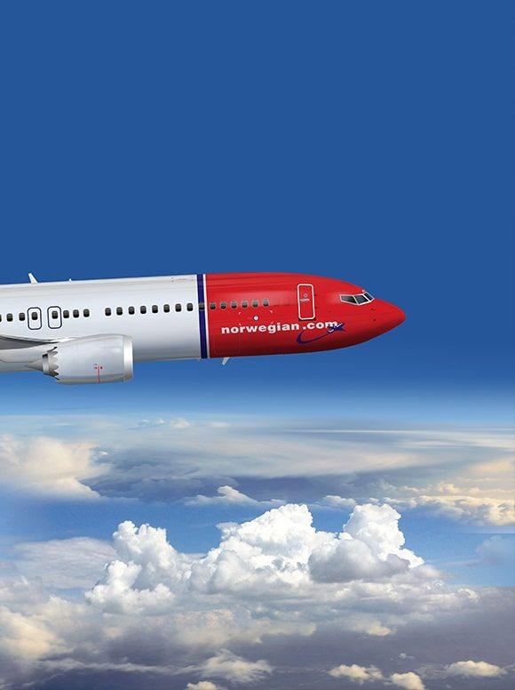 Letadlo společnosti Norwegian