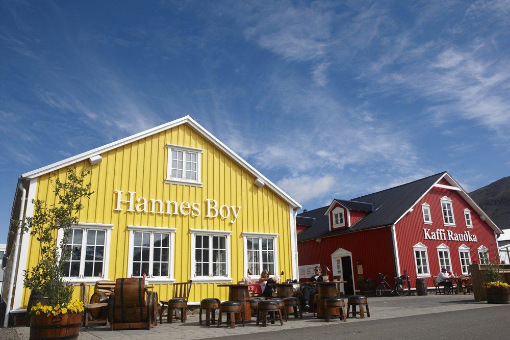 Restaurace na Islandu.