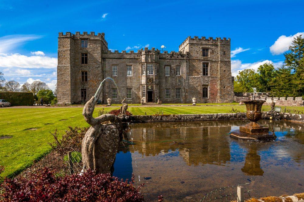 Hrad Chillingham v Anglii.