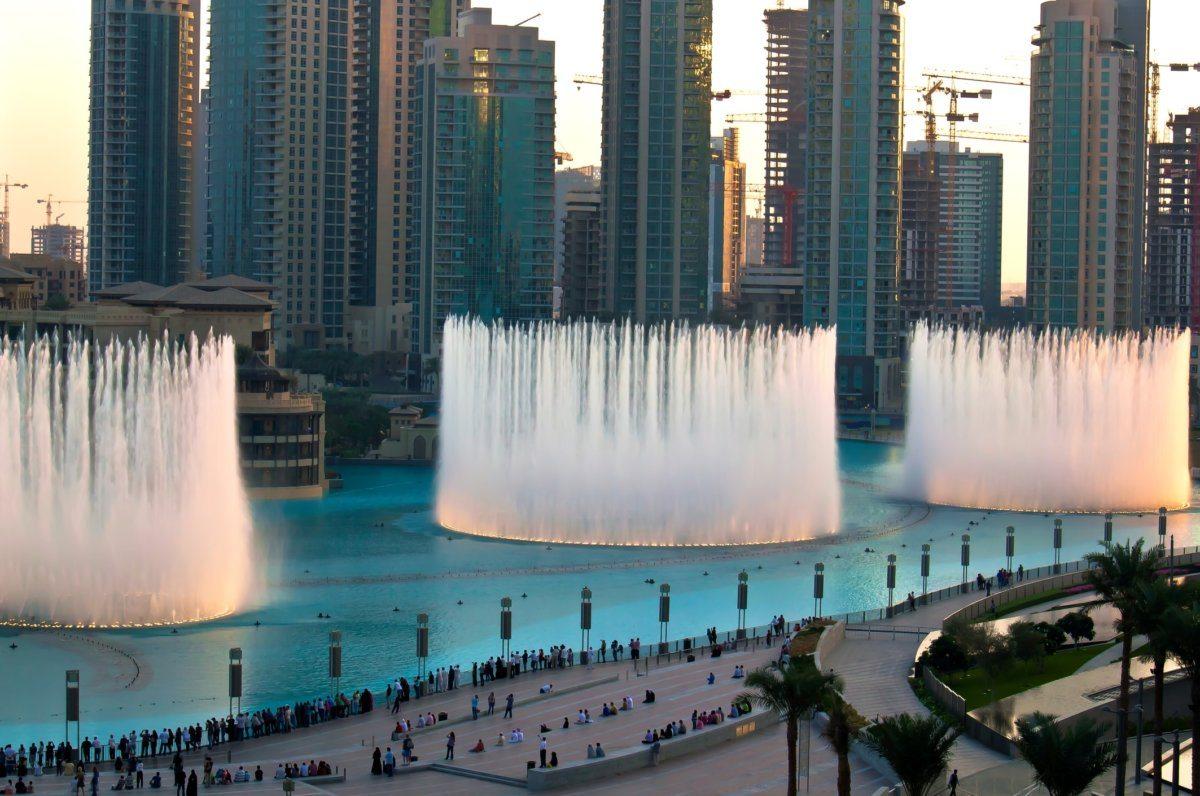 Fontána v Dubaji