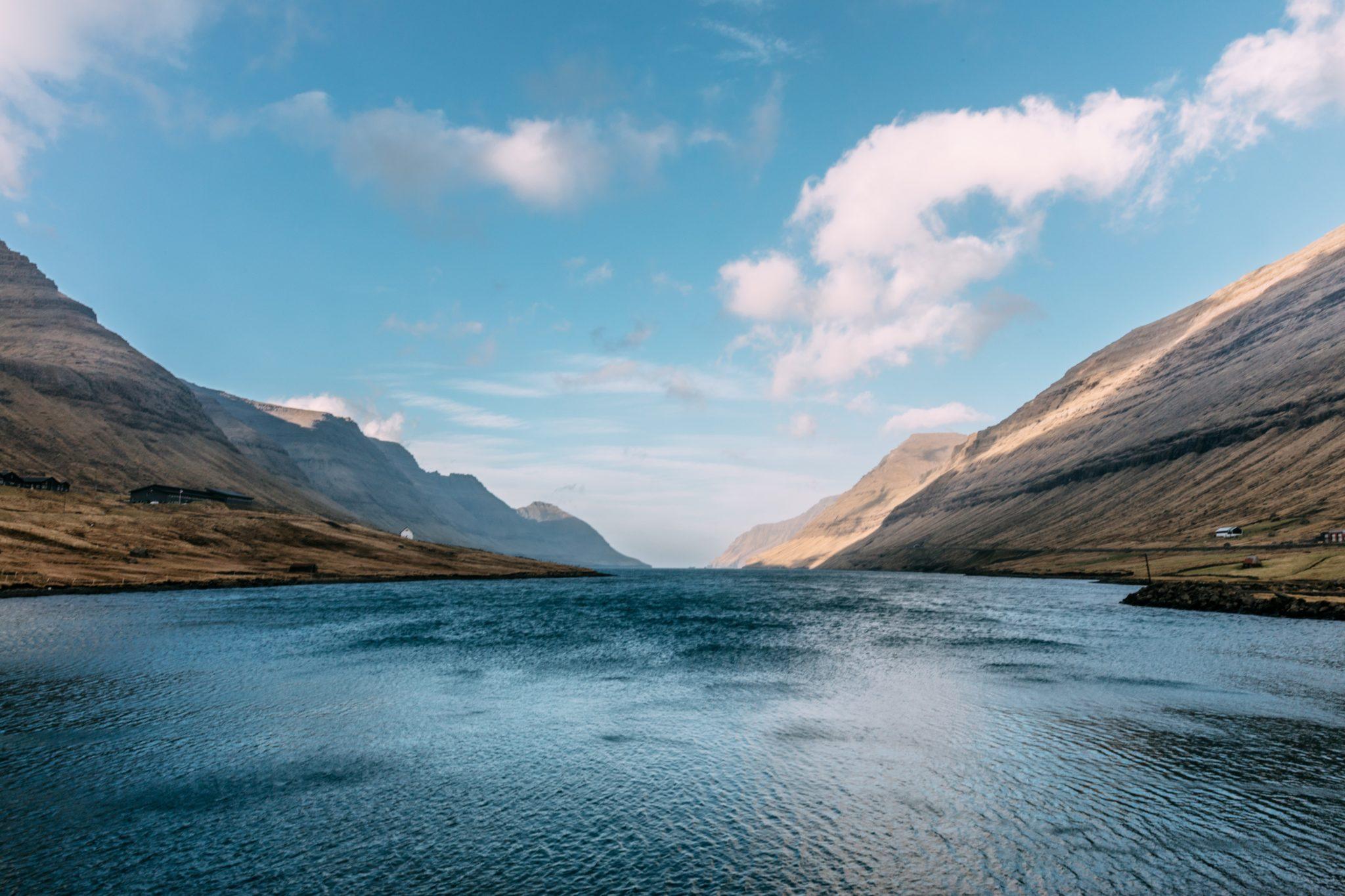 Jezero na Faerských ostrovech