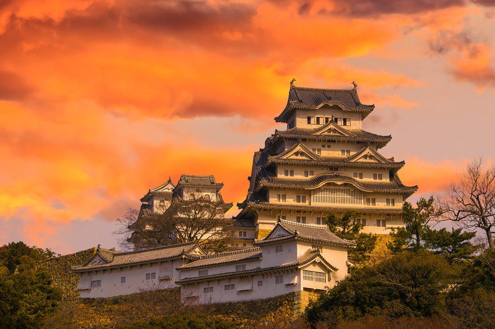 Hrad Himeji v Japonsku.