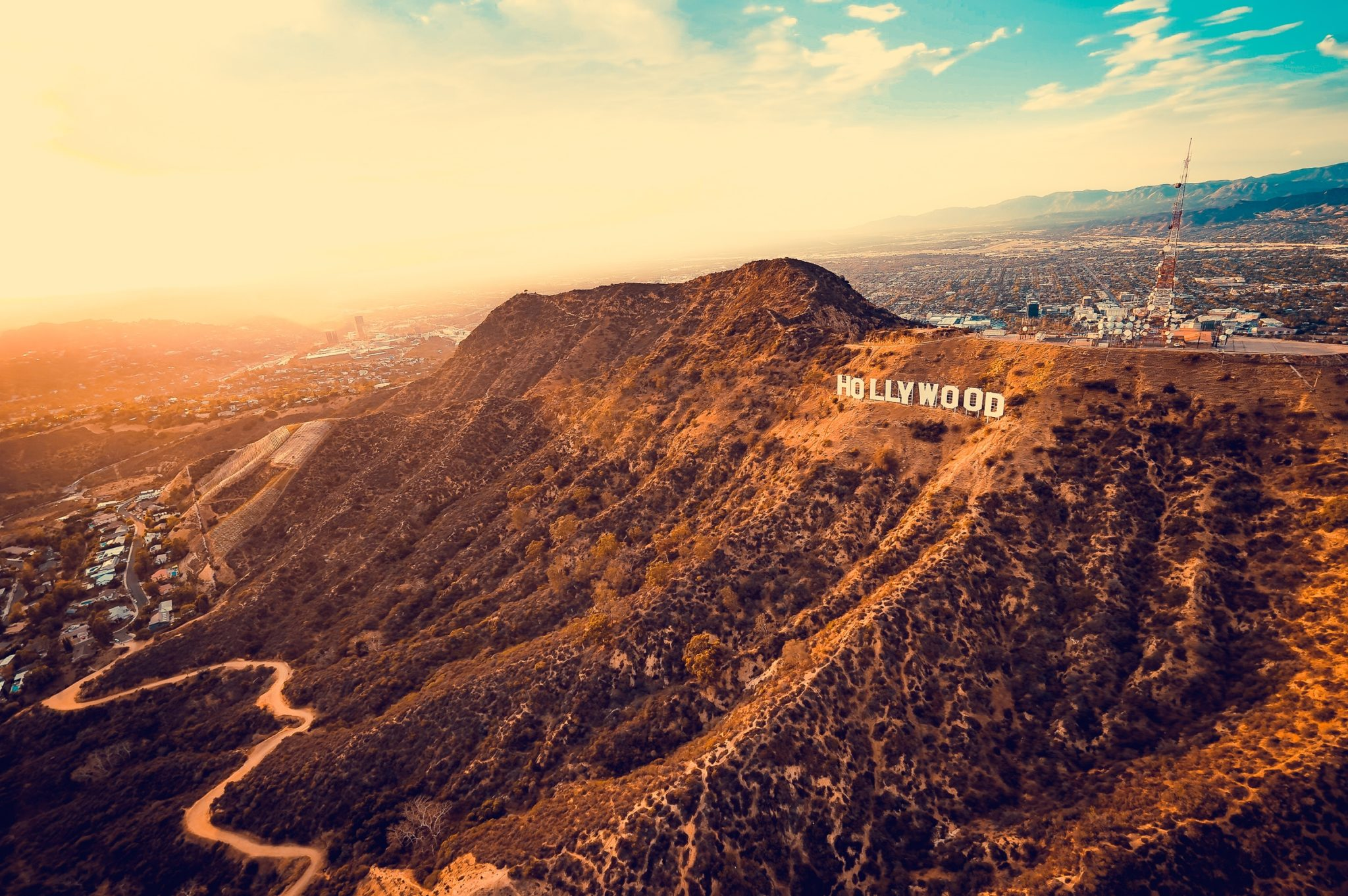 Letecký pohled na Hollywood