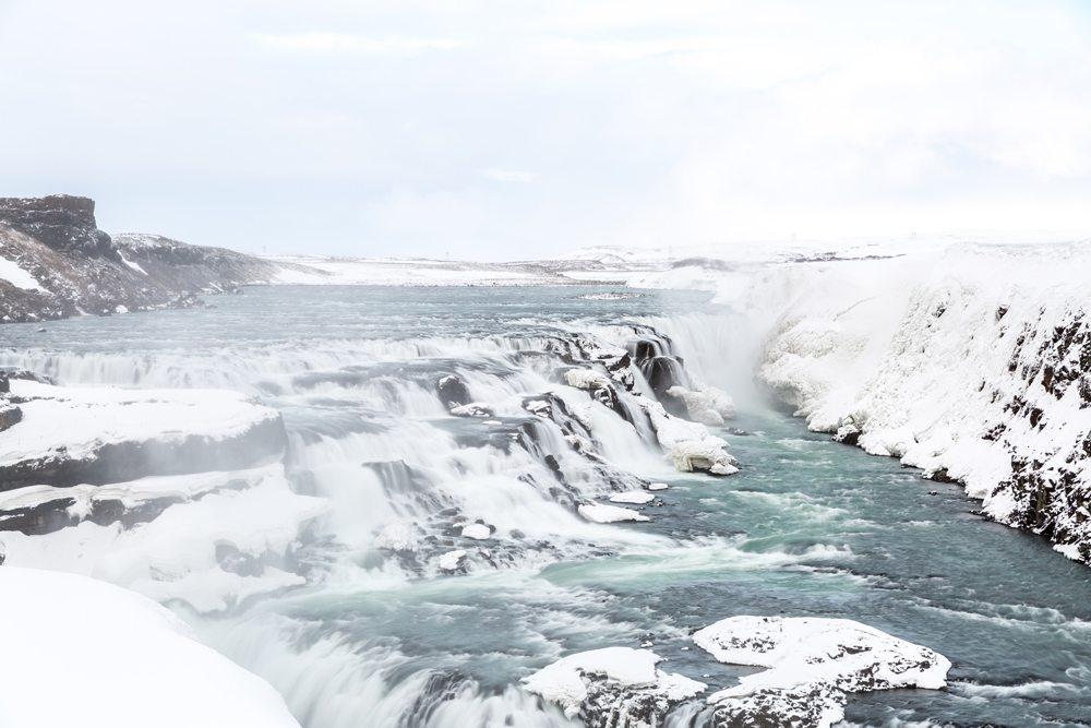Niagáry Islandu - vodopády Gullfoss.