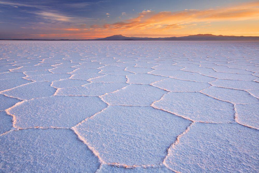 Solná pláň Salar de Uyuni.