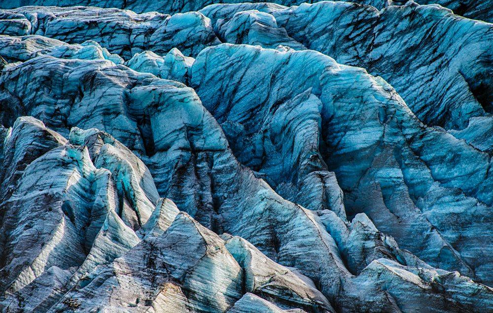 Modrý ledovec Svinafellsjokull.
