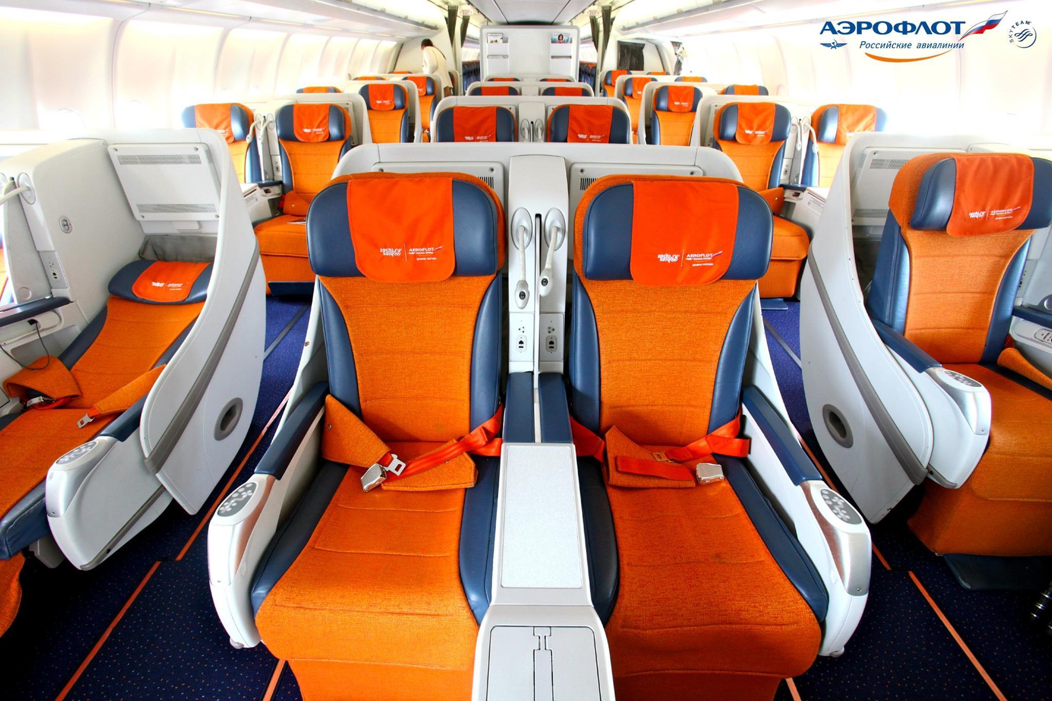 Sedadla v letadle