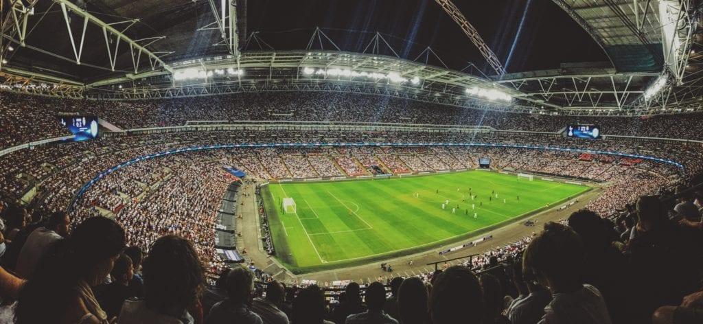 Fotbalové utkání v Angii