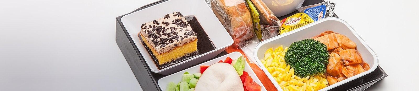 Občerstvení na palubě Aeroflotu