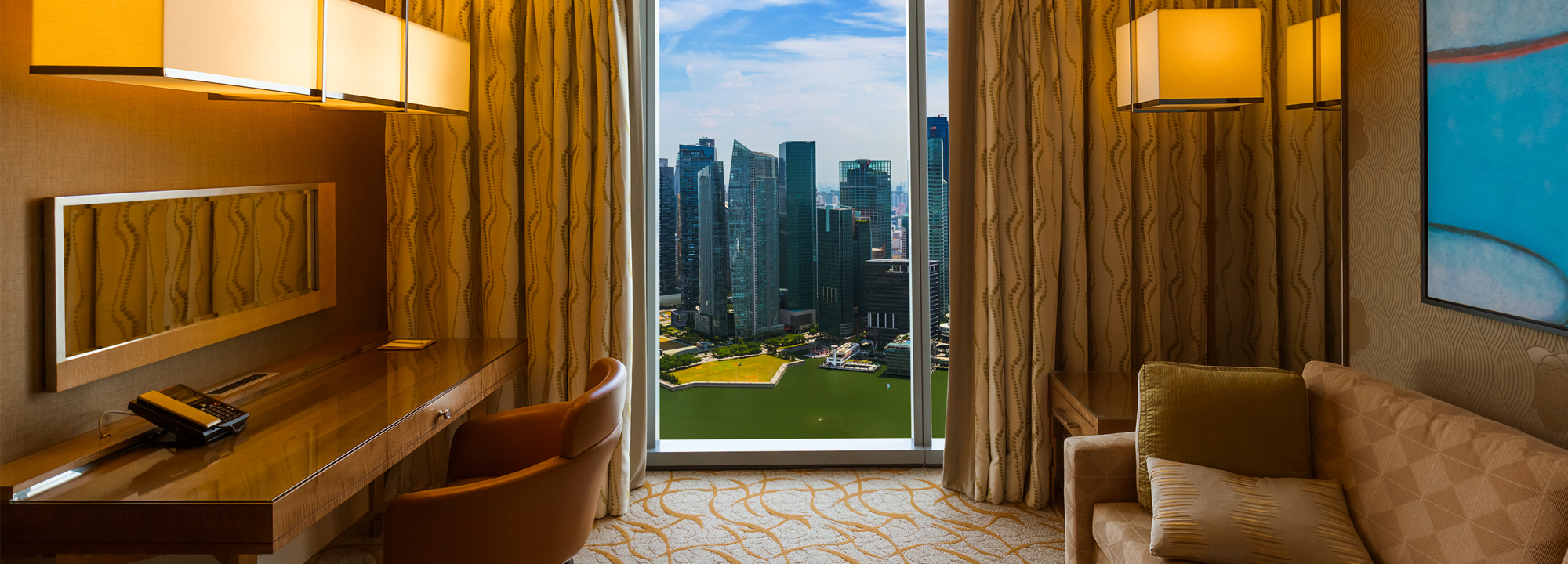 Výhled z hotelového pokoje