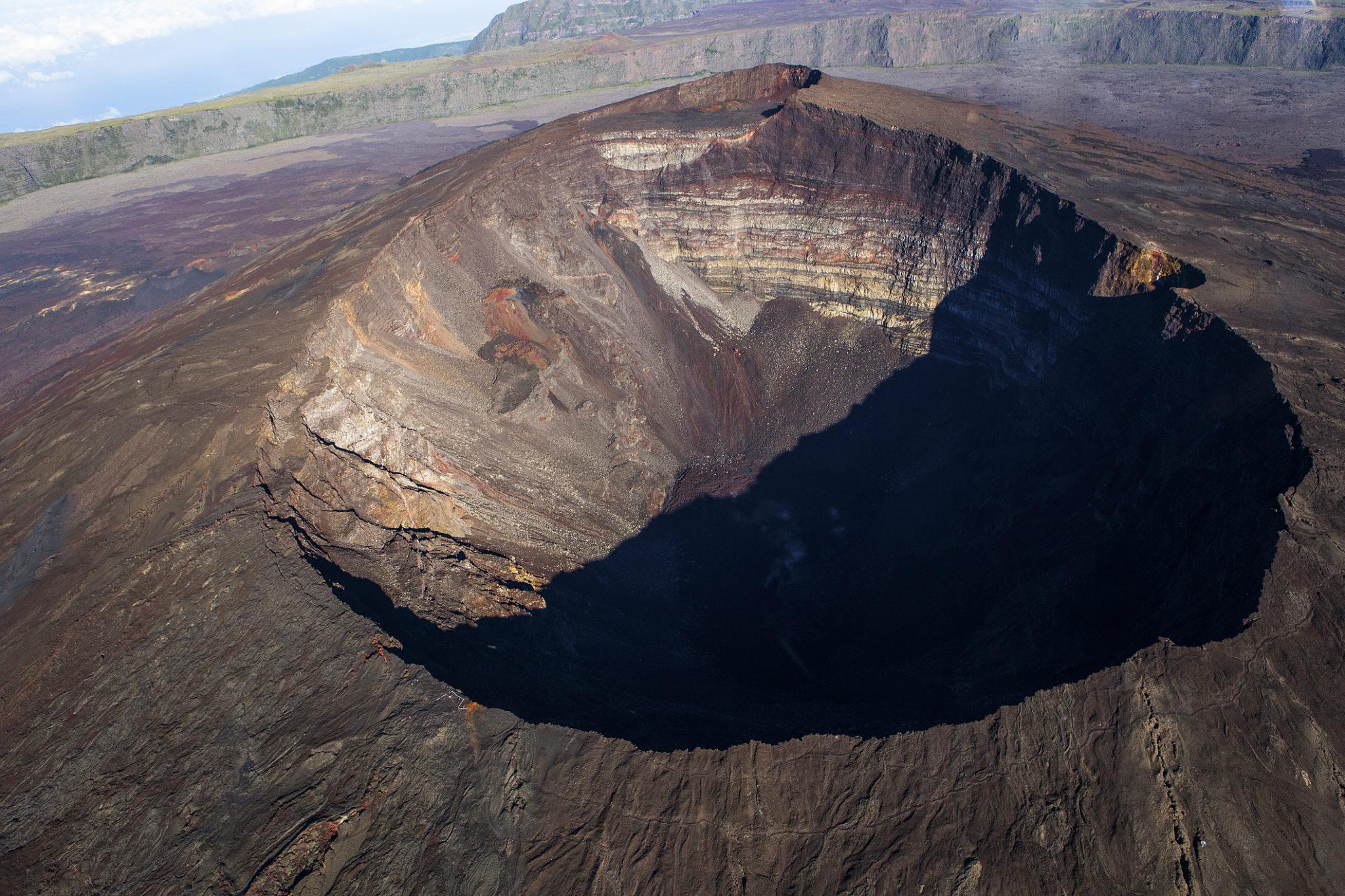 Kráter sopky na ostrově