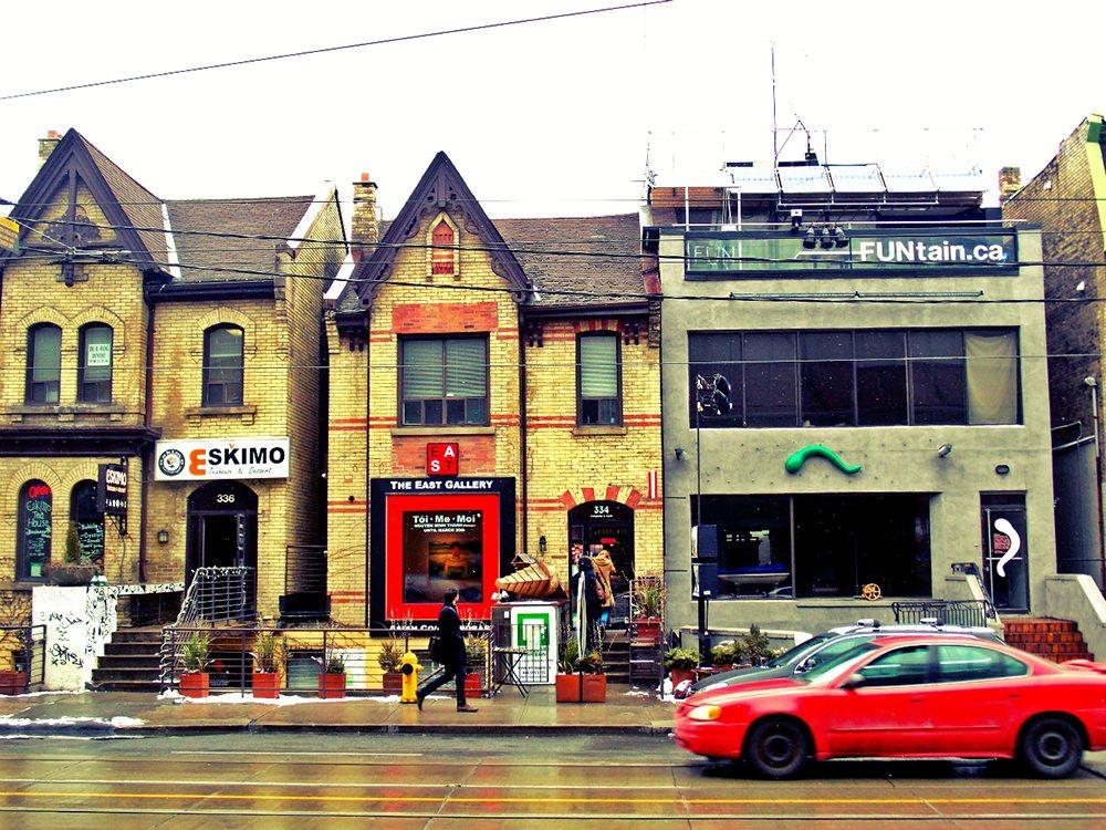 Čtvrť v Torontu.