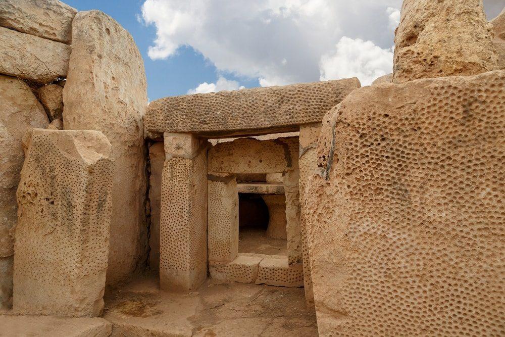 Archelogické nálezy na Maltě.