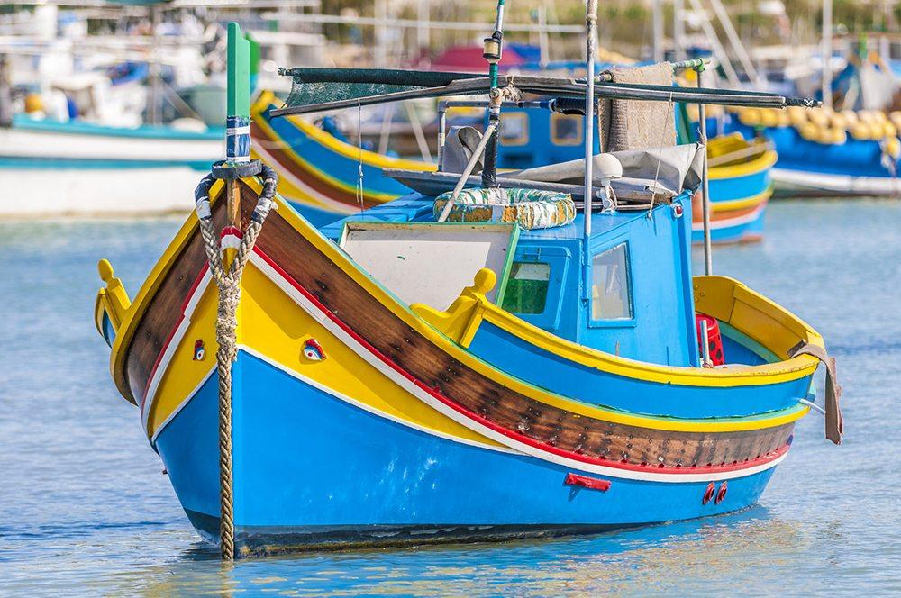 """Typická maltská loďka """"luzzu"""""""