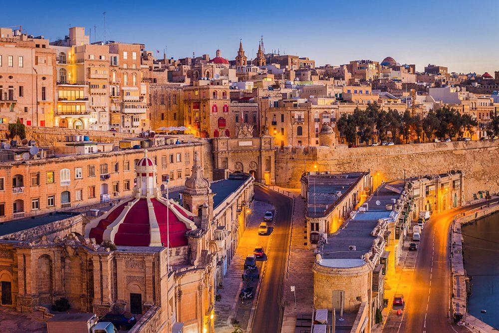 Centrum města Valletta.