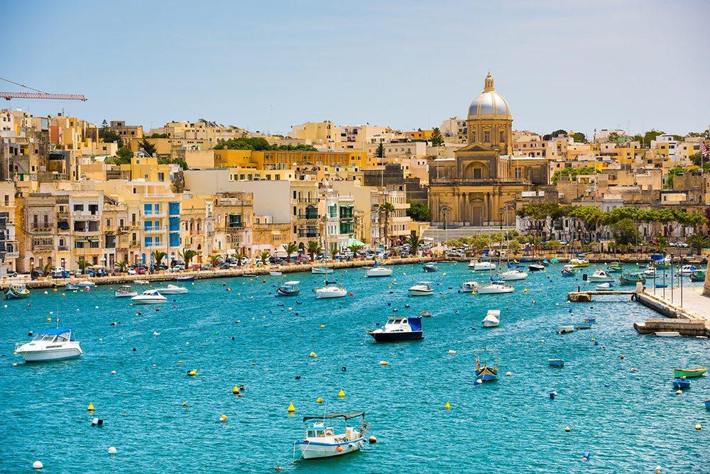 Přístav města Valletta.