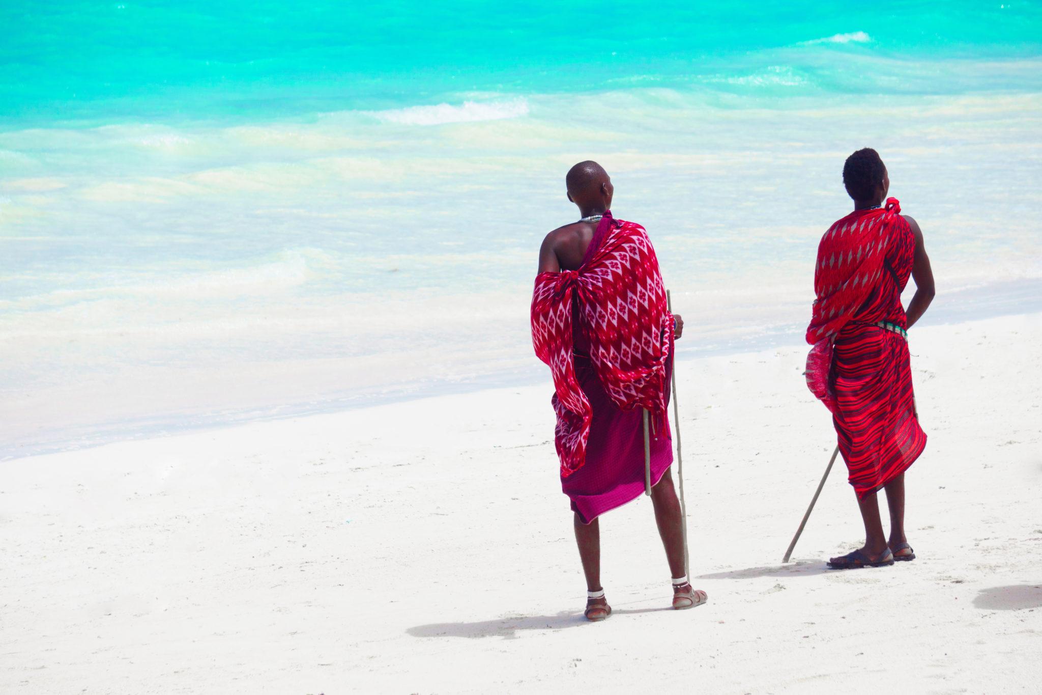 Masajové na pláži