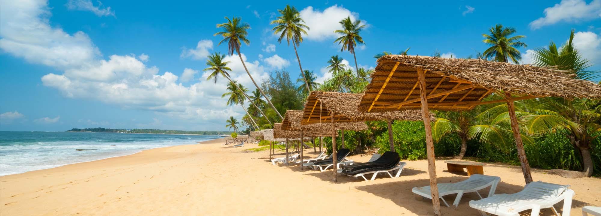 Pláž na Srí Lance
