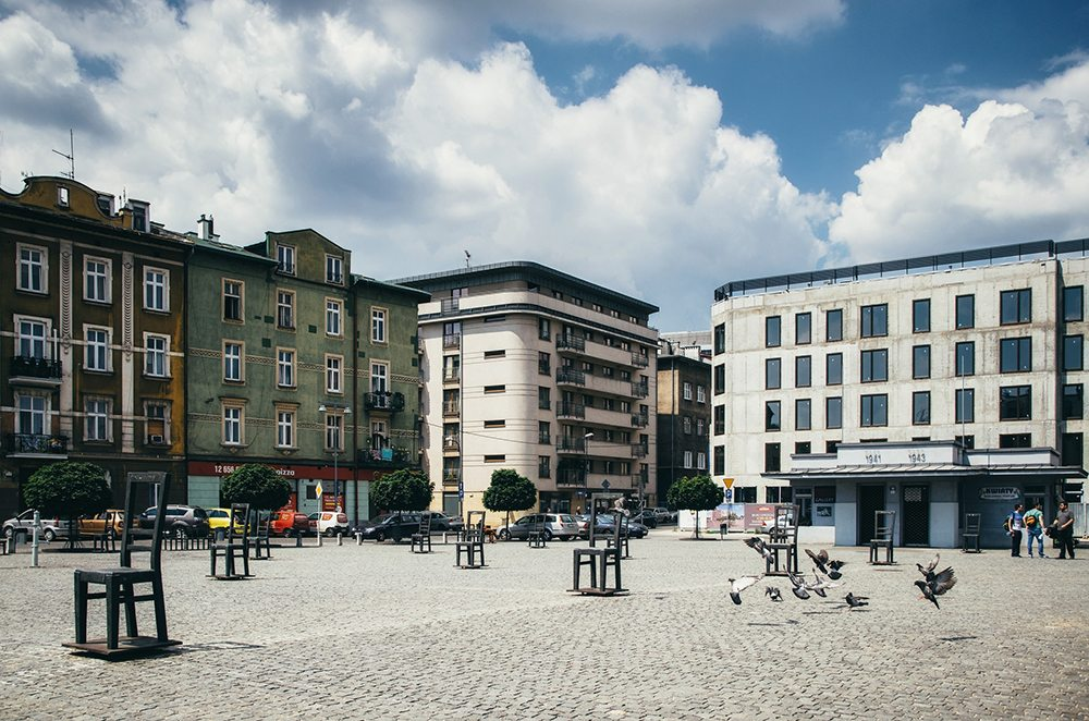 Ghetto Heroes Square v Krakově.